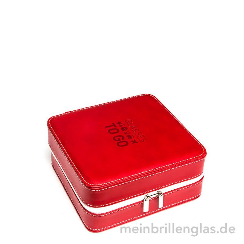 6d1c87a57c9699 Reise brillenetui brillenbox vier rot geschlossen